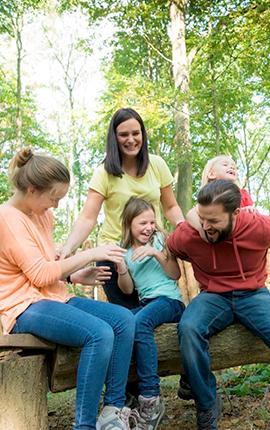 Balade à l'Escale forestière en famille